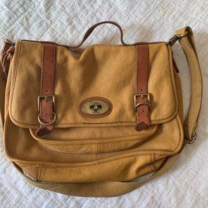 Mustard Fossil Messenger Bag